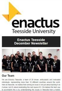 Enactus Teesside December Newsletter
