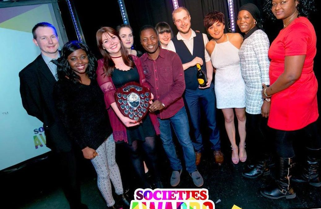Enactus Teesside at Society Awards at Teesside Students Union